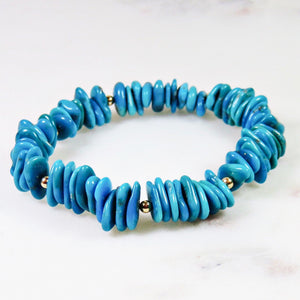 Aurora Sleeping Beauty Turquoise Bracelet 14k Gold Filled Beads