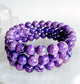 charoit mala bracelet_made in Vancouver, BC, Purple gemstone_Russian Charoite_Grade_AA
