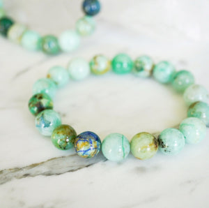 natural Arizona chrysocolla, intention bracelet, intention jewelry, healing crystals, best intention jewelry in Canada, handmade in BC, gemstones, crystals, healing crystals, metaphysical, meditation