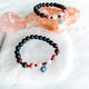 Evil Eye + Rose Quartz + Rhodonite + Garnet + Spinel Bracelet_Empress Mala Designs_The Sweat Edit_Designer Intention Jewelry