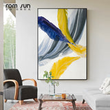 Modern Abstract Colorful Feather Canvas Art Paintings For Living Room Bedroom Posters And Prints Wall Poster Affiche Home Decor