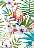 Tropical Rainforest Watercolor Plants Flower Bird Natural Style Canvas Painting Canvas Print Art Poster Wall Picture Home Decor