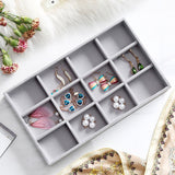 M 12 grids gray ring  storage trays high quality grey velvet jewelry ring display storage tray C171-2