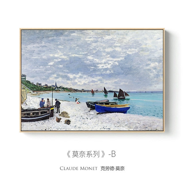Famous Claude Monet Canvas Painting poster and prints Fashion Modern Wall art pictures For Living room bedroom dinning room cafe