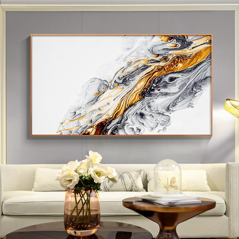 Abstract colour ink splash Canvas Painting Posters n print Wall Art Picture For Living Room Studio Aisle Home Cuadros Decoracion