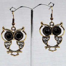 Load image into Gallery viewer, Small Bohemian Owl Earrings