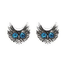 Load image into Gallery viewer, Blue Rhinestone Stud Earrings