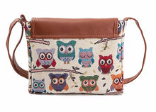Load image into Gallery viewer, Canvas Owl Printed Bag