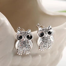 Load image into Gallery viewer, Silver Owl Earrings