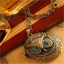 Load image into Gallery viewer, Vintage Owl Pendant Necklace