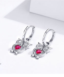 Fine Heart Dangle Earrings