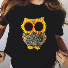 Load image into Gallery viewer, Sunflower Owl Aesthetic T-shirt