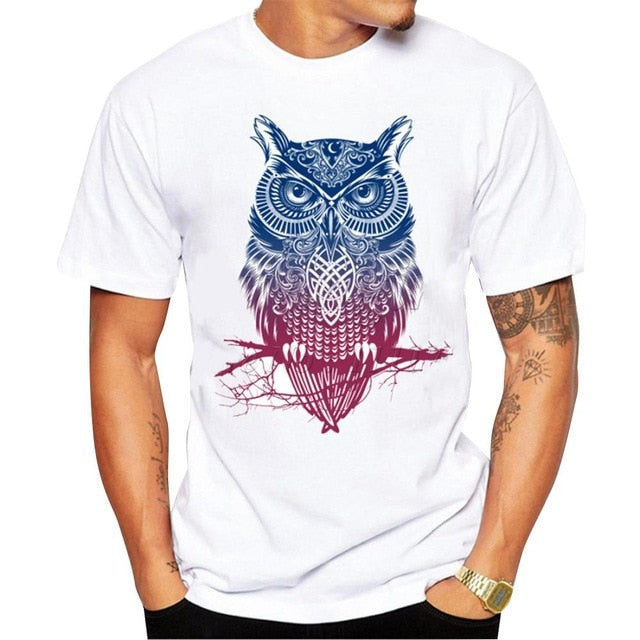 Stylish Owl Pattern T-shirt
