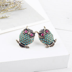 Exquisite Crystal Stud Earrings
