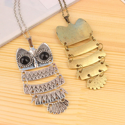 Retro Metal Owl Necklace