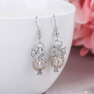 Hollow Owl Glowing Earrings