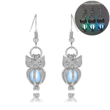 Load image into Gallery viewer, Hollow Owl Glowing Earrings