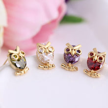 Load image into Gallery viewer, Delicate Owl  Plated Earrings