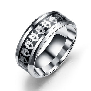 Stainless Steel Owl Wedding Ring