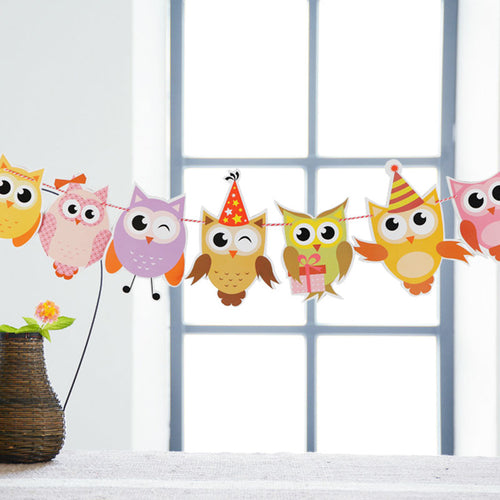 Cartoon Owl Banner