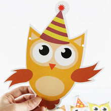 Load image into Gallery viewer, Cartoon Owl Banner