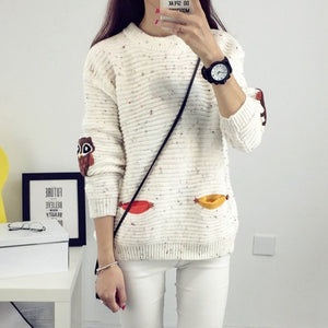 Knitted Owl Sweater