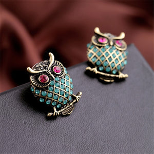 Personality Female Owl Earrings