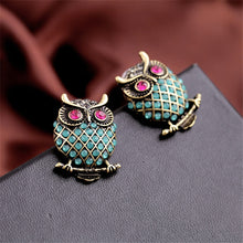Load image into Gallery viewer, Personality Female Owl Earrings