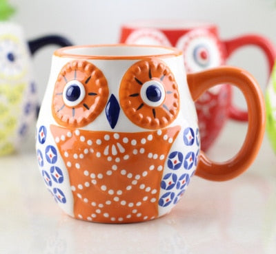 Cartoon Owl Tea Cup