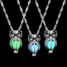 Load image into Gallery viewer, Glowing Owl Pendant Choker