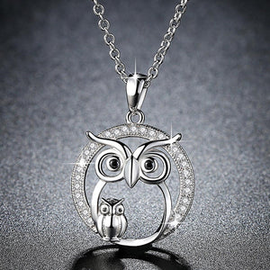Link Chain Owl Necklace