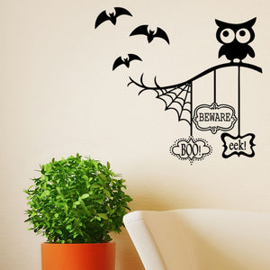 Halloween Owl Theme Wall Sticker