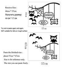 Load image into Gallery viewer, Halloween Owl Theme Wall Sticker