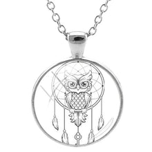 Load image into Gallery viewer, Dream Catcher & Owl Pendant Necklace