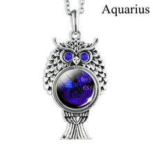 Load image into Gallery viewer, Zodiac Sign Silver Chain Necklace