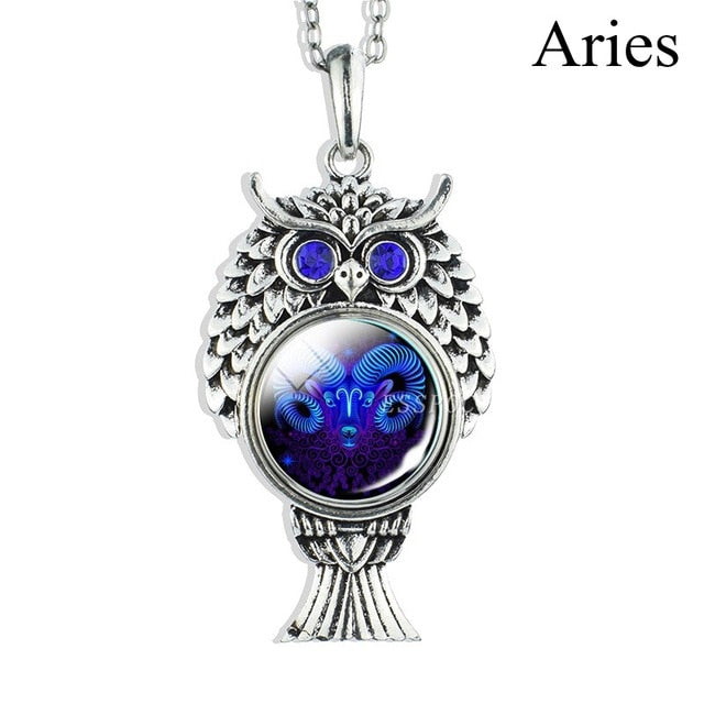 Zodiac Sign Silver Chain Necklace