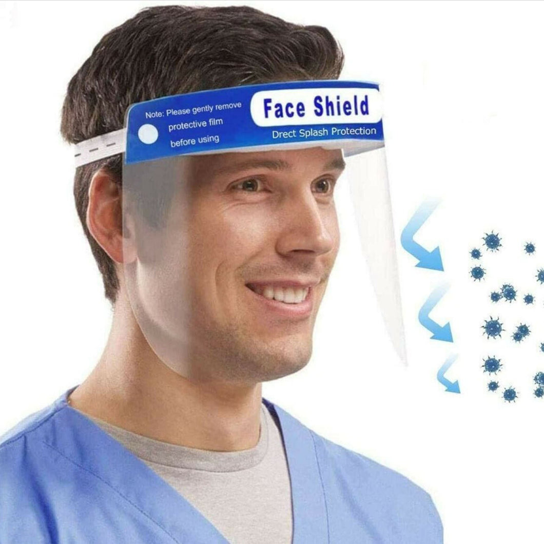 Face Visor Shield with foam - 10 Pack