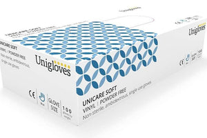 Disposable Vinyl Gloves (100 Pack) - Powder Free