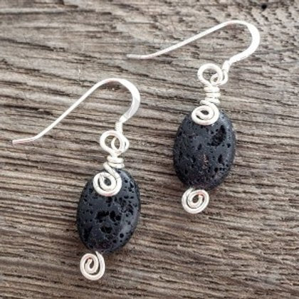 Lava Swirl Earrings - Life Science Publishing & Products Hong Kong and Asia