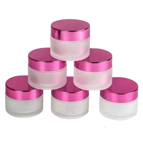 2 oz (60ml) Frosted Jars With Magenta Lids (6 Pack) - Discover Health & Lifestyle Asia