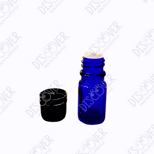 5 ml Cobalt Blue Glass Bottles with Reducer (12-pack) - Discover Health & Lifestyle Asia