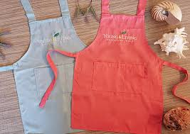 Young Living Kids Apron - Pink/Light Blue - Discover Health & Lifestyle Asia