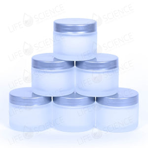 Frosted Glass Jars With Silver Lids (6 Pack) - Life Science Publishing & Products Hong Kong and Asia
