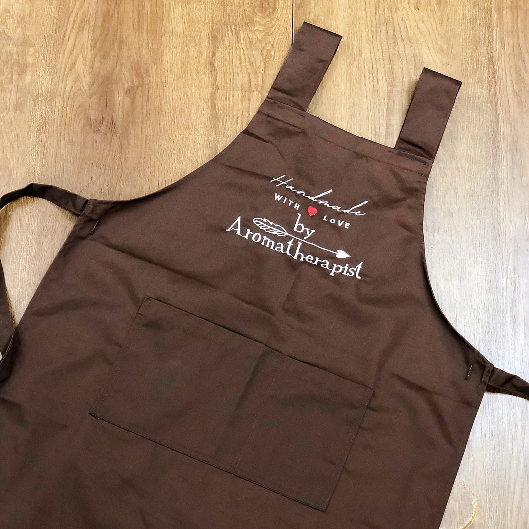 By Aromatherapist Apron with Adjustable Buttons - Brown