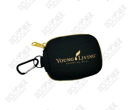 Aroma Tote 16 vial 2-ml or 5/8 dram Case (Black/Golden Zipper) - Life Science Publishing & Products Hong Kong and Asia
