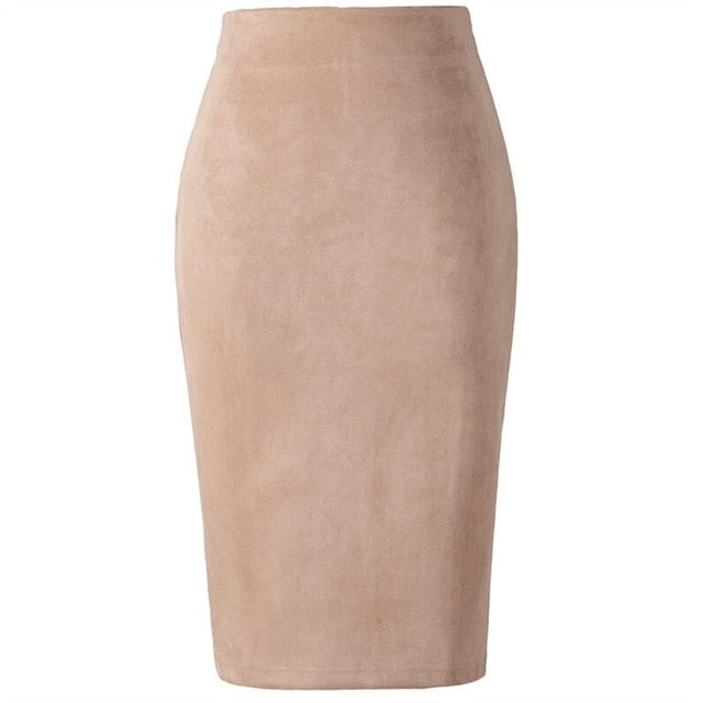 Suede Midi Skirt