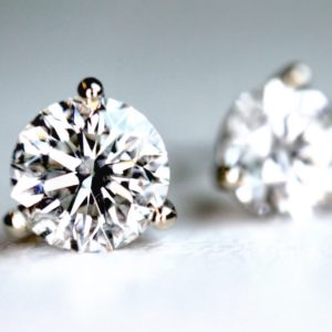 1.06 Ct Diamond Stud Earrings