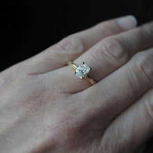 Load image into Gallery viewer, Natural Oval Diamond Engagement Ring