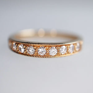 Vintage Inspired Pave Diamond Band