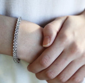 Natural Diamond Half Bezel Line Bracelets